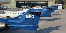 Airplane with GFD label